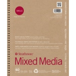 "Strathmore® 200 Series Skills 9"" x 12"" Wire Bound Mixed Media Pad: White/Ivory, Pad, 60 Sheets, 9"" x 12"", Mixed Media, (model ST20-409), price per 60 Sheets pad"