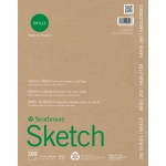 "Strathmore® 200 Series Skills 11"" x 14"" Glue Bound Sketch Pad: White/Ivory, Pad, 100 Sheets, 11"" x 14"", Sketching"