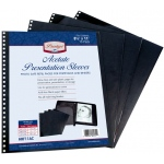 "Prestige™ Acetate Presentation Sleeves 14 x 17: Black/Gray, Acetate, 14"" x 17"""