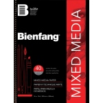 "Bienfang® 9"" x 12"" Mixed Media Paper Pad: Wire Bound, White/Ivory, Pad, 9"" x 12"", Fine, 90 lb"