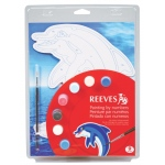"Reeves™ Color & Shape Painting by Number Dolphin Set: Multi, 9 3/4"" x 13"", (model PBNCS3), price per set"