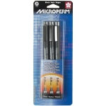 Sakura of America Microperm Pen Set: Black 01,03,05, Pack of 3