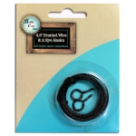Bottle Cap Home Decor Essentials Black Wire with 2 Eye Hooks