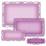 Spellbinders Nestabilities Deco Elements Romantic Rectangles Two