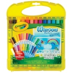 Crayola® Washable Window Markers & Stencil Set: Washable, (model 04-5229), price per set