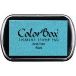 ColorBox® Full Size Pigment Ink Pad Aqua: Blue, Pad, Pigment, Full Size Rectangle, (model CS15039), price per each