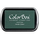 ColorBox® Full Size Pigment Ink Pad Hunter Green: Green, Pad, Pigment, Full Size Rectangle
