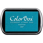 ColorBox® Full Size Pigment Ink Pad Surf: Blue, Pad, Pigment, Full Size Rectangle, (model CS15190), price per each