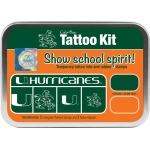 ColorBox® University of Miami Collegiate Tattoo Kit: Tin, Stamp