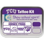 ColorBox® Texas Christian University Collegiate Tattoo Kit: Tin, Stamp, (model CS19625), price per set