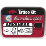 ColorBox® University of Arkansas Collegiate Tattoo Kit: Tin, Stamp, (model CS19647), price per set