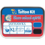 ColorBox® The University of Kansas Collegiate Tattoo Kit: Tin, Stamp, (model CS19648), price per set