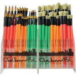 Dynasty® Urban FX Synthetic and Bristle Urban Art Brush Display Assortment: Long Handle, Urban Art, (model FM35345D), price per each