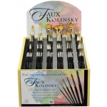 Dynasty® Faux Kolinsky Synthetic Watercolor Brush Display Assortment: Long Handle, Synthetic, Watercolor, (model FM36980D), price per each