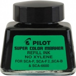 Pilot®  Super Color Black Refill Ink (Xylene-Free): Black/Gray, Bottle, Refill, Refill, (model 48500), price per each