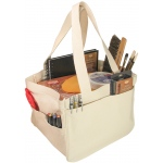 "Heritage Arts™ Deluxe Art Tote: White/Ivory, Cotton, 12""l x 12""w x 9 3/4""h, (model HDAT1212), price per each"
