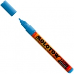 MOLOTOW™ 2mm Fine Tip Acrylic Pump Marker Shock Blue Middle: Blue, Paint, Refillable, 2mm, Paint Marker
