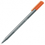 Staedtler® Triplus® Orange Fineliner Pen : Orange, .3mm, Fine Nib, Technical, (model 334-4), price per each