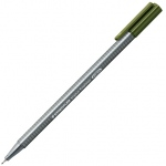 Staedtler® Triplus® Olive Green Fineliner Pen : Green, .3mm, Fine Nib, Technical, (model 334-57), price per each