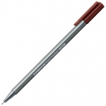 Staedtler® Triplus® Brown Fineliner Pen : Brown, .3mm, Fine Nib, Technical, (model 334-76), price per each