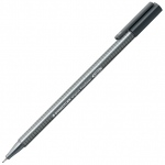 Staedtler® Triplus® Grey Fineliner Pen : Black/Gray, .3mm, Fine Nib, Technical, (model 334-8), price per each