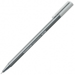 Staedtler® Triplus® Silver Grey Fineliner Pen : Black/Gray, .3mm, Fine Nib, Technical, (model 334-82), price per each