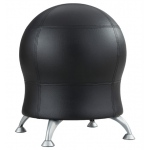 "Zenergy™ Black Antimicrobial Vinyl Ball Chair: No, Black/Gray, No, Under 24"", Vinyl, (model 4751BL), price per each"