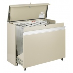 "Safco® MasterFile Storage Cabinet 48"" x 36"": 1600 Sheets, White/Ivory, Steel, 21 1/2""d x 56""w x 45""h"