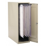 "Safco® Vertical Storage Cabinets 16"" x 39"" x 54.75"": 1200 Sheets, White/Ivory, Steel, 39""d x 16""w x 54 3/4""h"
