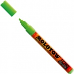 MOLOTOW™ 2mm Fine Tip Acrylic Pump Marker Neon Green Fluorescent: Green, Paint, Refillable, 2mm, Paint Marker, (model M127232), price per each