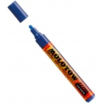 MOLOTOW™ 4mm Round Tip Acrylic Pump Marker True Blue: Blue, Paint, Refillable, 4mm, Paint Marker, (model M227206), price per each
