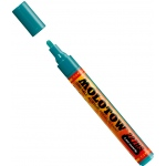 MOLOTOW™ 4mm Round Tip Acrylic Pump Marker Lagoon Blue: Blue, Paint, Refillable, 4mm, Paint Marker, (model M227221), price per each