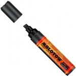 MOLOTOW™ 4-8mm Chisel Tip Acrylic Pump Marker Signal Black: Black/Gray, Paint, Refillable, 8mm, Paint Marker