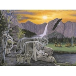 "Royal & Langnickel® Painting by Numbers™ 11 1/4 x 15 3/8 Junior Large Set Path Of The Wolf Spirit: 11 1/4"" x 15 3/8"", (model PJL38), price per set"