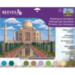 "Reeves™ Large Acrylic Painting By Numbers Set Taj Mahal: 12"" x 15 1/2"""