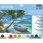 "Reeves™ Large Acrylic Painting By Numbers Set Tropical Beach: 12"" x 15 1/2"", (model PL104), price per each"