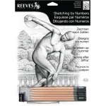 "Reeves™ Medium Sketching By Numbers Diskobolus: Black/Gray, 12"" x 15"", (model PPSKM5), price per each"