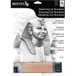 "Reeves™ Medium Sketching by Numbers Reeves™ Medium Sketching By Numbers Sphinx: Black/Gray, 12"" x 15"""
