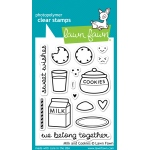 Lawn Fawn - Milk and Cookies Stamp Set