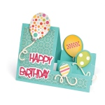 Sizzix - Framelits Die Set 23 Pack - Card - Balloons Step-Ups