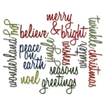 Sizzix - Tim Holtz Alterations - Thinlits Die Set 17 Pack - Holiday Words: Script