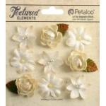 Petaloo - Mixed Textured Mini Blossoms - Ivory