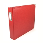 We R Memory Keepers - Album - Leather 12x12 Ring Real Red