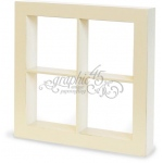 Graphic 45 - Staples - Window Shadow Box - Ivory