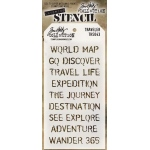 Stampers Anonymous - Tim Holtz - Stencil - Traveler
