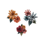 Sizzix - Tim Holtz Alterations - Thinlits Die Set 15 Pack - Tiny Tattered Florals