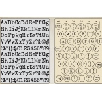 Sizzix - Tim Holtz Alterations - Texture Fades Embossing Folders 2 Pack - Typewriter & Keyboard Set