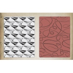 Sizzix - Tim Holtz Alterations - Texture Fades Embossing Folders 2 Pack - Paper Airplane & Dotted Lines Set