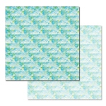 Ken Oliver - Pitter Patterns - Aqua Print 12x12 Paper
