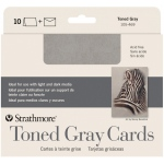 "Strathmore® Toned Grey Sketch Cards: Black/Gray, Card, 5"" x 6 7/8"", Card, 80 lb, (model ST105-469), price per pack"